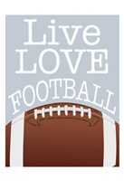 Football Love Fine Art Print