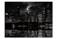 Full Moon Chicago Fine Art Print