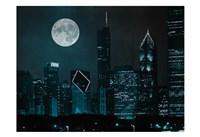 Moonlit Chicago Fine Art Print