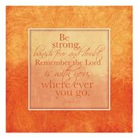 Orange Religious Fine Art Print