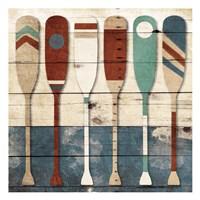 Multi Oars Fine Art Print