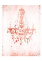 Blush Silver Chandelier Fine Art Print