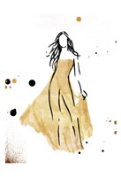Form Dress Gold Fine Art Print