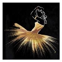 Golden Dress Puff Fine Art Print