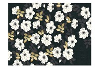 1613 Flora Noir Floral Repeat Fine Art Print