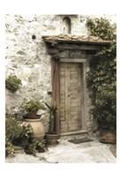 Montefioralle Door Fine Art Print