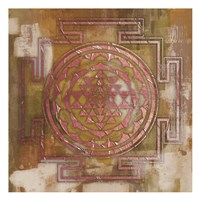 Rose Gold Medallion Fine Art Print
