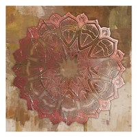 Rose Gold Mandala Fine Art Print