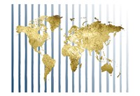 Striped Map Fine Art Print