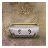 Golden Bath 1 Fine Art Print