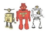 Three Robots Fine Art Print