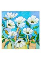 White Poppies Fine Art Print