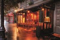 Cafe Le Parvis Fine Art Print