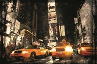 Times Square Taxis Fine Art Print