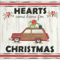 Hearts Come Home for Christmas Fine Art Print