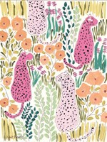 Hello Cheetah - Pink Fine Art Print