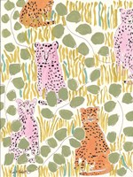 Hello Cheetah - Pink & Orange Fine Art Print