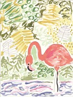 Fancy the Flamingo Fine Art Print