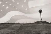 Patriotic Windmill Fine Art Print