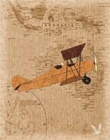 Airplane Map 1 Fine Art Print