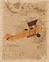 Airplane Map 1 Fine Art Print