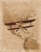 Airplane Map 2 Fine Art Print
