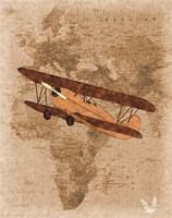 Airplane Map 3 Fine Art Print