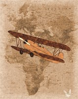 Airplane Map 3 Fine Art Print