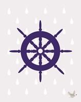 Nautical Raindrops 1 Fine Art Print