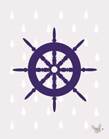 Nautical Raindrops 1 Fine Art Print