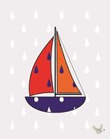 Nautical Raindrops 2 Fine Art Print
