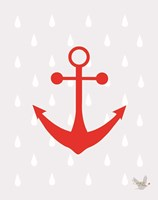 Nautical Raindrops 3 Fine Art Print