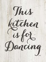 This Kitchen is for Dancing Fine Art Print