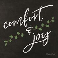 Comfort & Joy Chalkboard Fine Art Print