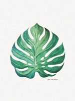 Watercolor Monstera Leaf Fine Art Print