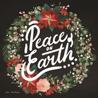 Peace on Earth Wreath Fine Art Print