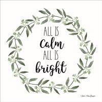 All is Calm Wreath Fine Art Print