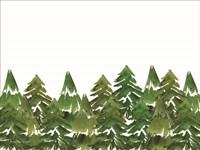 Trees in a Row I Fine Art Print