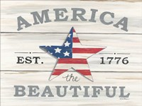 America the Beautiful Star Fine Art Print