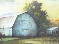 Rustic Blue Barn Fine Art Print