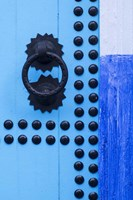 Detail of Blue Door, Chefchaouen, Morocco Fine Art Print