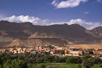 The Oasis City of Tinerhir beneath foothills of the Atlas Mountains, Morocco Fine Art Print