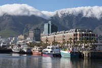 South Africa, Cape Town Victoria and Alfred Waterfront, Table Mountain Fine Art Print