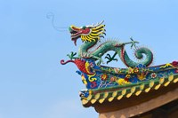 Dragon Sculpture, South Putuo Temple, Xiamen, Fujian Province, China Fine Art Print