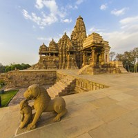 Hindu Temples at Khajuraho, India Fine Art Print