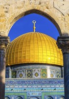 Dome of the Rock Arch, Temple Mount, Jerusalem, Israel Fine Art Print