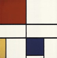 Composition C (No. III) with Red, Yellow and Blue Fine Art Print