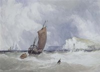 Pilot Boat Off Feecamp, Normandy Fine Art Print