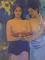 Two Women from Tahiti Fine Art Print