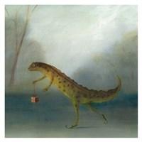 The Yuletide Newt Fine Art Print